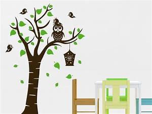 Wandtattoo Baum Kinder : wandtattoo baum mit eule und vogelfamilie wandtattoo de ~ Whattoseeinmadrid.com Haus und Dekorationen