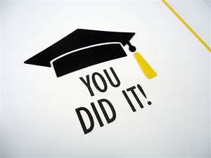 Graduation Card You Did It Congratulations Congrats grad