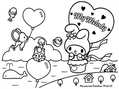 melody colouring sheets cute kawaii resources