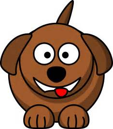 Laughing Dog Cartoon Clip Art