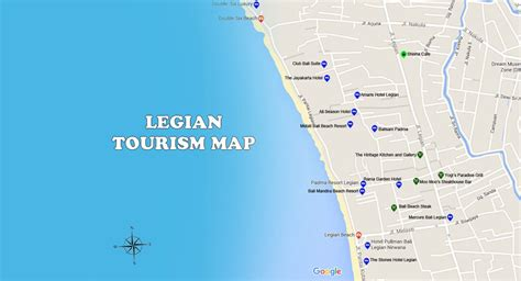 legian map bali travel guides