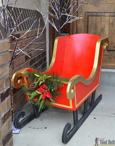 diy santa sleigh christmas decorations christmas sled