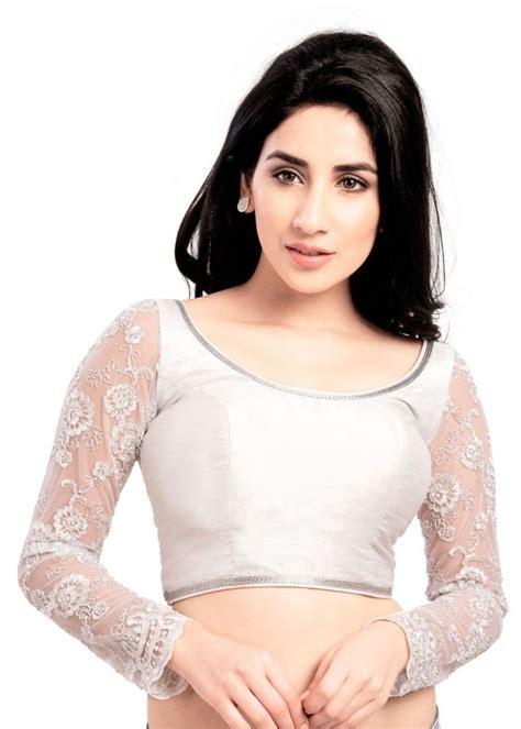 silver blouse gorgeous sleeve silver saree top sari blouse ebay