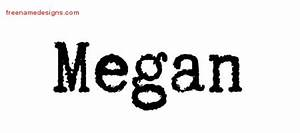 megan Archives - Free Name Designs