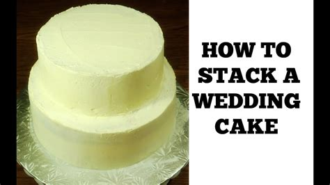 Stacking A 2 Tier Wedding Cake