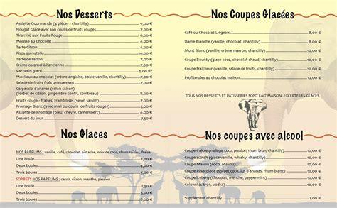 menu carte plat chez regine