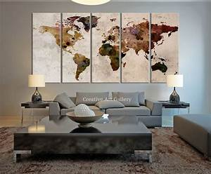 Large wall art ideas pinterest : Best ideas about world map canvas on