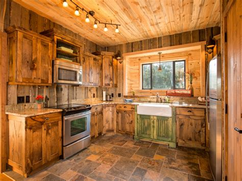 Kitchen : Charming Images Of Various Rustic Cabin Kitchens