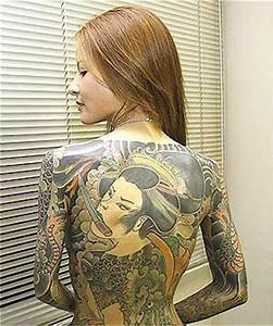 Art Body Painting Ideas: Yakuza Tattoo Pictures