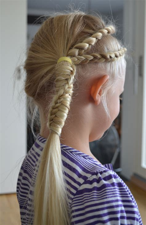 long blonde updo with braids and pony tail for blonde
