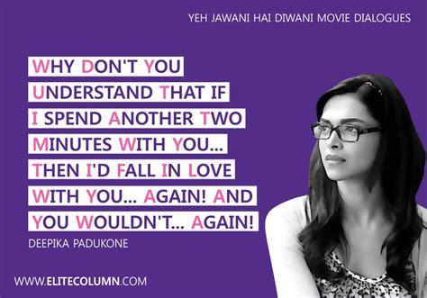 yeh jawani hai deewani dialogues  treasure  life