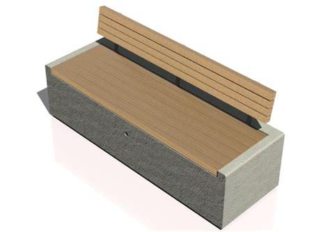 Panchina Cemento by Panchine 3d Panchina In Cemento Con Seduta In Legno