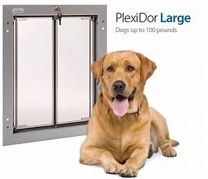 Plexidor pet doors pick the right dog door size for Dog door size by breed