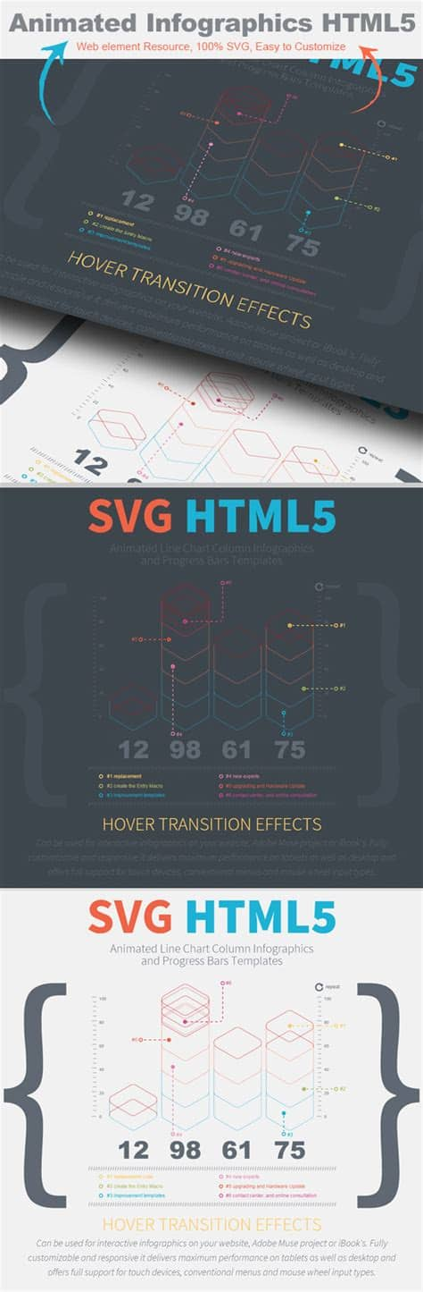 Svg infographic free vector we have about (90,565 files) free vector in ai, eps, cdr, svg vector illustration graphic art design format. 3D animated SVG Line Chart Column Infographics ...