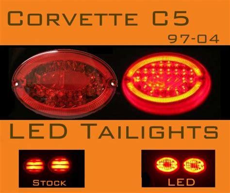 c5 corvette tail lights corvette c5 led tail lights 97 04 original version
