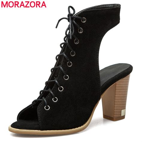 morazora size     gladiator sandals women high heels summer shoes ladies party prom
