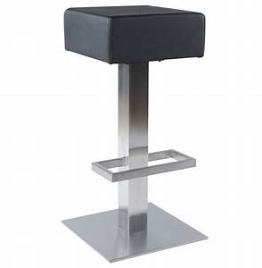 Tabouret De Bar Fixe : tabouret de bar assise carre decostock ~ Dailycaller-alerts.com Idées de Décoration