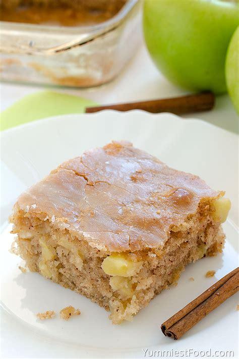 apple sheet cake recipe from yummiest food cookbook