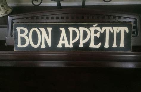 cuisine plaque bon appetit dining decor flea market sign