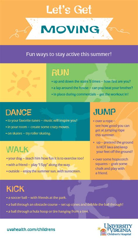summer infographic active ways keep fun moving healthy kid let most