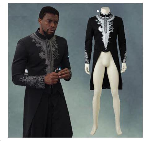 Black Panther Jacket with Tail | Black Panther Tu0026#39;Challa Costume | Dashiki