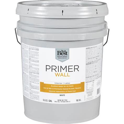 buy do it best latex wall interior primer 5 gal white