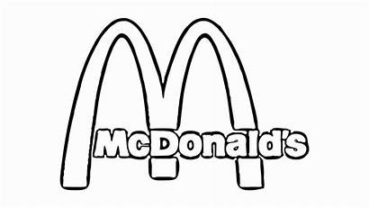 Mcdonalds Coloring Mcdonald Logotipo Dibujos Starbucks Colorear