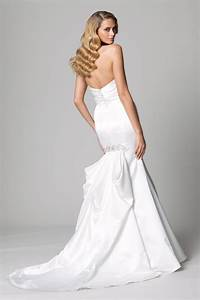 White satin mermaid wedding dress with special traincherry for White satin wedding dress