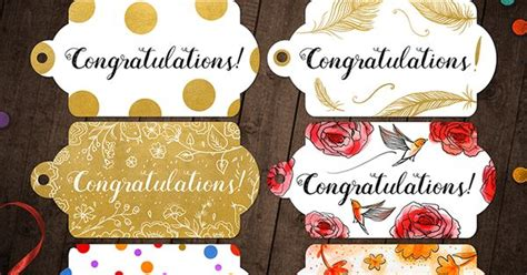 printable congratulations gift tags