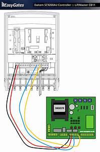 Daitem Sc9200au Controller To Liftmaster Cb11 Control
