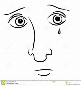Sad Crying Facial Expression Stock Illustration ...