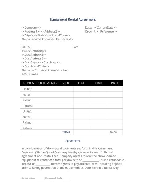 Product Rental Agreement Template by Product Rental Agreement Template Gallery Resume