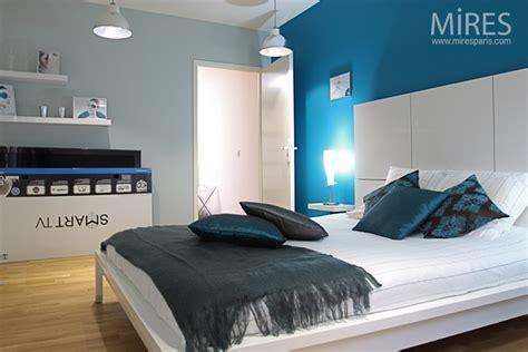 chambre parentale bleue chambre bleu