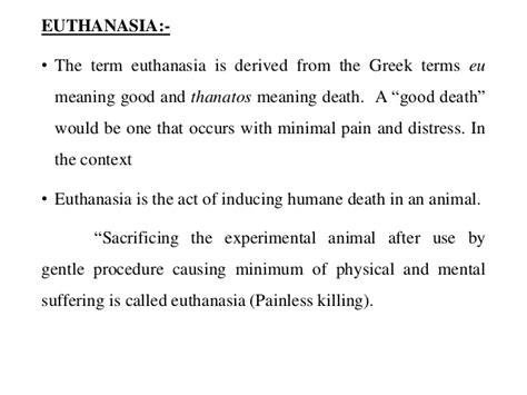 euthanasia anaesthesia