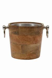 Creative Co-Op Wooden Ice Bucket from Wyoming by Allure