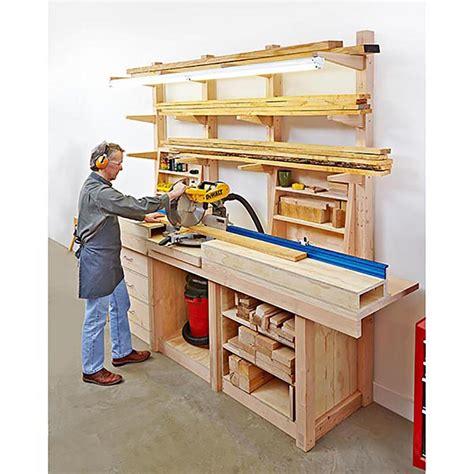 multipurpose workcenter woodworking plan  wood magazine