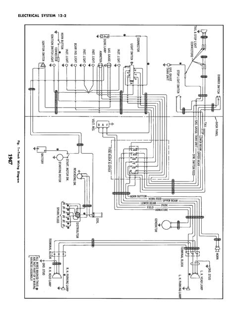 Color Wiring Diagram Finished The 1947 Present Chevrolet Gmc by Wrg 6653 1947 Chevy Wiring Diagram