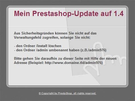 Tutorial Prestashop Update 1.3 Auf 1.4