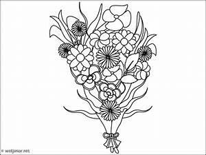 bouquet de fleurs coloriage nature gratuit sur webjunior With chambre bébé design avec bouquet de fleurs dessin