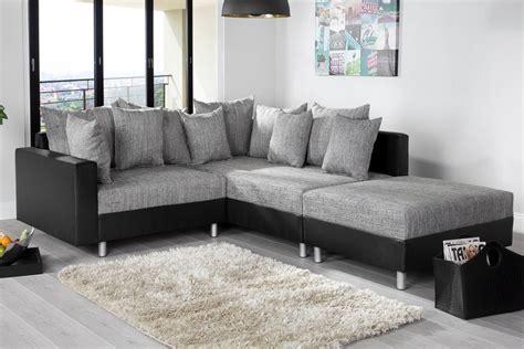 canapé d angle noir canapé d 39 angle modulable loft noir gris