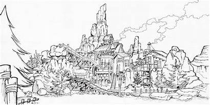 Mountain Pages Thunder Disney Walt Coloring Disneyland