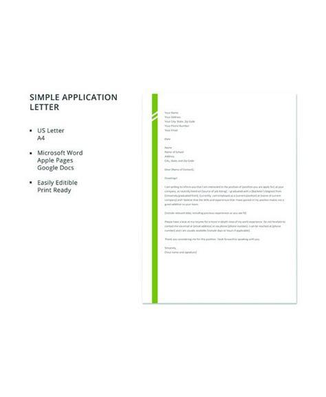 sample letter  application templates
