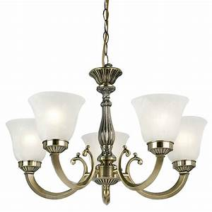 Endon lighting carmen ab antique brass glass