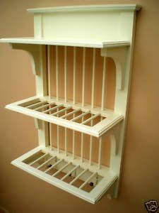 wooden cream wall plate rack amazoncouk kitchen home