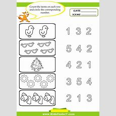Preschool Worksheets  Kids Under 7 Preschool Counting Printables  Kids Stuff Preschool