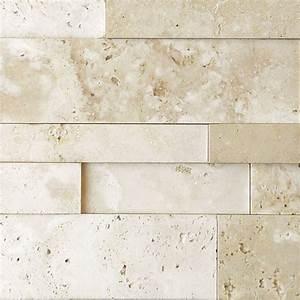 Nysa Travertine Stack Stone Wall Cladding Panel Z Pattern ...
