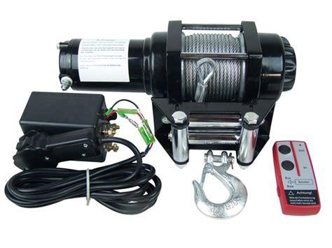 seilwinde 12 volt 12 v motor seilwinde mit funk fernbedienung bis 4 3t