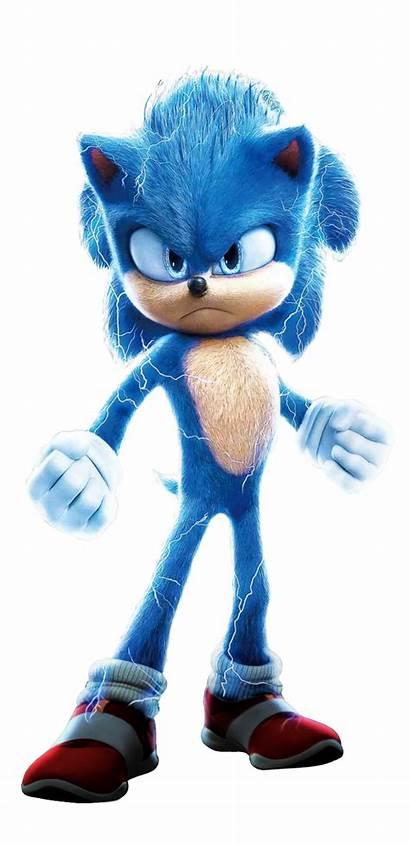 Sonic Movie Render Hedgehog Poster Japanese Shadow