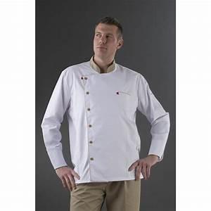 Tablier De Cuisine Homme : veste cuisine manches longues blanche col beige label ~ Melissatoandfro.com Idées de Décoration