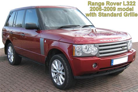 chrome supercharged front grille  range rover